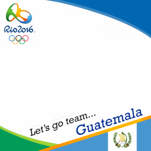 Guatemala Rio 2016 team profile picture overlay frame filter