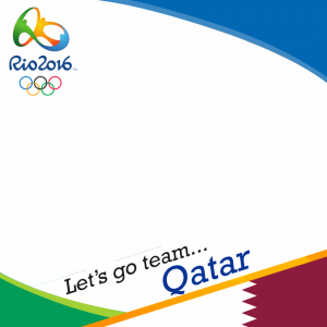 Qatar Rio 2016 team profile picture overlay frame filter