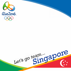 Singapore Rio 2016 team profile picture overlay frame filter