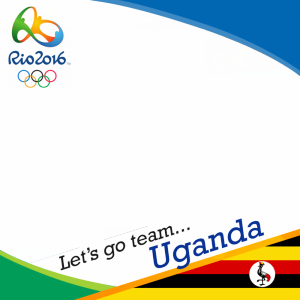 Uganda Rio 2016 team profile picture overlay frame filter