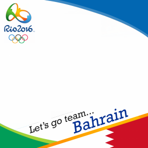 Bahrain Rio 2016 team profile picture overlay frame filter