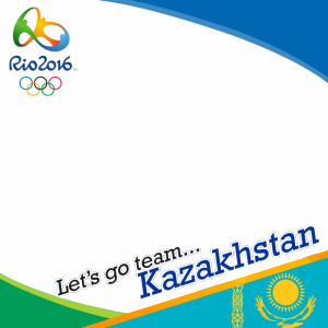 Kazakhstan Rio 2016 team profile picture overlay frame filter