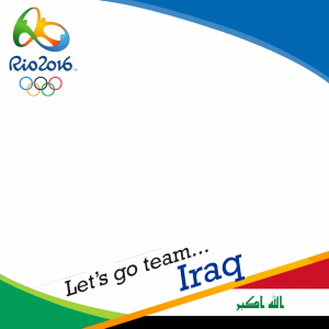 Iraq Rio 2016 team profile picture overlay frame filter