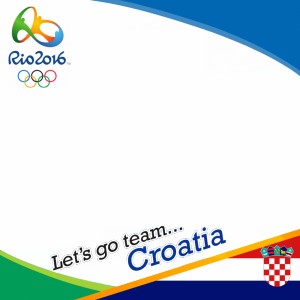 Croatia Rio 2016 team profile picture overlay frame filter