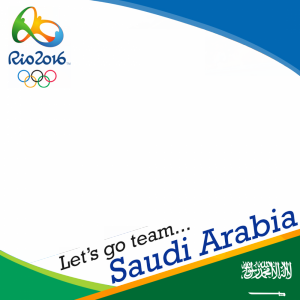 Saudi Arabia Rio 2016 team profile picture overlay frame filter