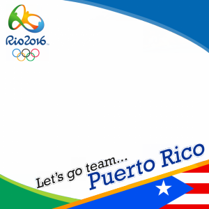 Puerto Rico Rio 2016 team profile picture overlay frame filter
