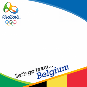 Belgium Rio 2016 team profile picture overlay frame filter