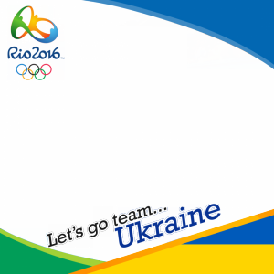 Ukraine Rio 2016 team profile picture overlay frame filter