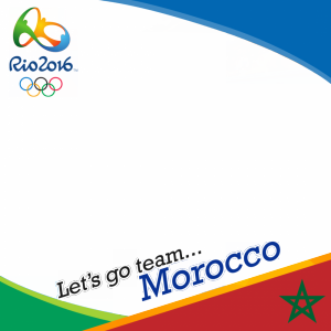 Morocco Rio 2016 team profile picture overlay frame filter