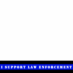 I support law enforcement profile picture overlay frame filter