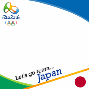 Japan Rio 2016 team profile picture overlay frame filter