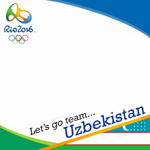 Uzbekistan Rio 2016 team profile picture overlay frame filter