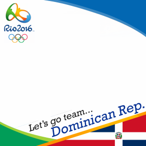 Dominican Republic Rio 2016 team profile picture overlay frame filter