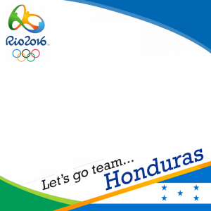 Honduras Rio 2016 team profile picture overlay frame filter