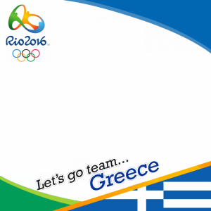 Greece Rio 2016 team profile picture overlay frame filter